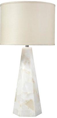 Jamie Young Borealis Hexagonal Table Lamp - Natural Alabaster