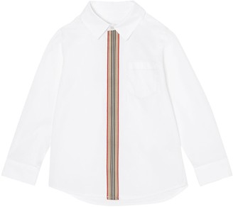 Burberry Cotton Poplin Shirt W/ Band