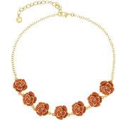 Gloria Vanderbilt Womens Orange Crystal Accent Collar Necklace