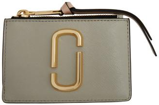 Marc Jacobs Grey The Snapshot Top Zip Card Holder