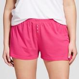 Xhilaration Women's Plus Size Plus Size Knit Pajama Short