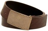 James Campbell Plaque Buckle Leather Belt