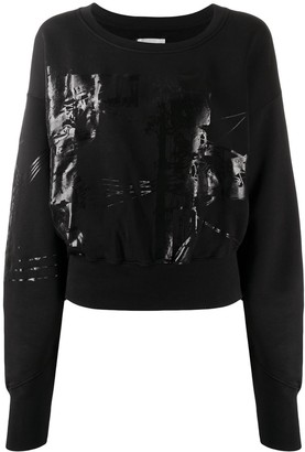 Faith Connexion Printed Cropped Sweatshirt