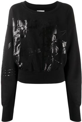Faith Connexion Printed Cropped Sweatshirt