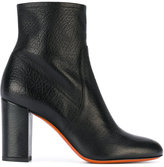 Santoni chunky heel ankle boots - women - Calf Leather/Leather - 36