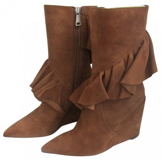 J.W.Anderson Brown Suede Boots