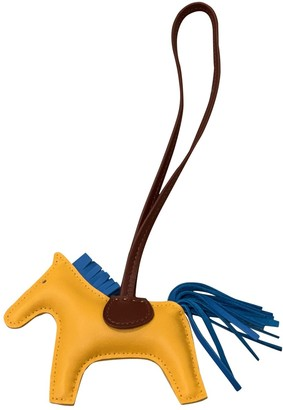 Hermã ̈S HermAs Rodeo Yellow Leather Bag charms