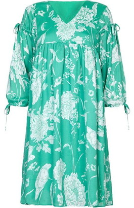 Yumi Floral Print Tassel Tunic Dress