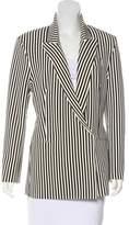 Norma Kamali Neoprene Striped Blazer