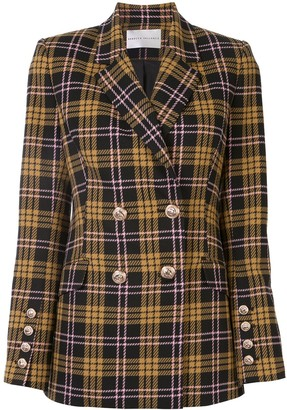 Rebecca Vallance Checkered Fitted Blazer