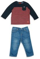 7 For All Mankind Baby's Two-Piece Tee & Jeans Set