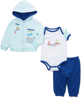 Buster Brown Clear Water & Limoges Whale Hoodie Set - Infant
