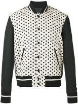 Just Cavalli star print bomber jacket - men - Cotton/Polyamide/Spandex/Elastane - 48