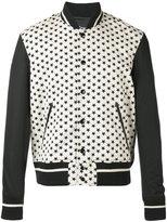 Just Cavalli star print bomber jacket - men - Cotton/Polyamide/Spandex/Elastane - 48
