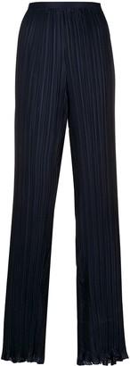 Alberta Ferretti Pleated High-Rise Trousers