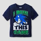 Sonic Boys' Sonic Run This Game Graphic T-Shirt - Navy