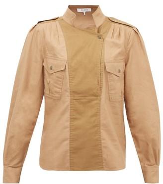 Frame Panelled Cotton-twill Safari Shirt - Beige