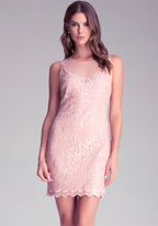 Bebe Embroidered Lace Dress