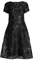Aidan Mattox Women's Sequin Mesh Fit-&-Flare Cocktail Dress