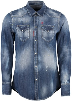 DSQUARED2 Classic Western Long-sleeve Denim Shirt