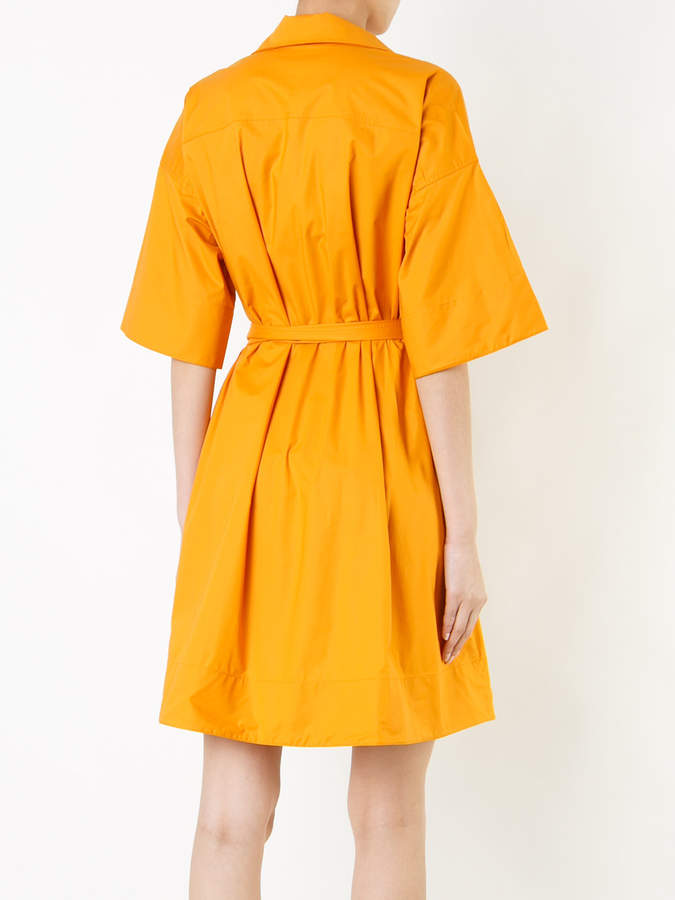 Paule Ka short woven wrap dress