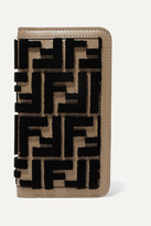 Fendi Flocked Leather Iphone X Case - Brown