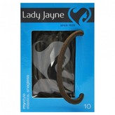Lady Jayne Elastics, Snagless, Thick, Brown 10 pack