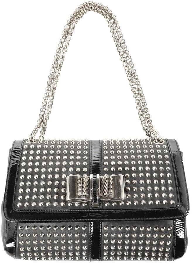 Sweet Charity Black Leather Handbags