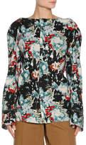Marni Magnum Abstract-Print Poplin Long-Sleeve Shirt, Multicolor