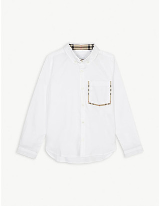 Burberry Harry vintage check trim cotton Oxford shirt 3-14 years