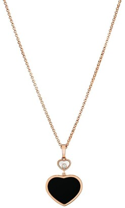 Chopard Rose Gold and Diamond Happy Hearts Pendant