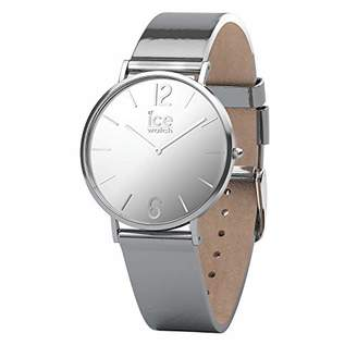 Ice Watch Ice-Watch - CITY sparkling - Metal Silver - Women's wristwatch with leather strap - 015089 (Small)