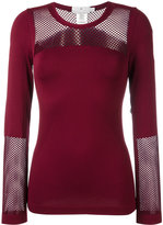 adidas by Stella McCartney Cherry seamless mesh top - women - Nylon/Spandex/Elastane - XS