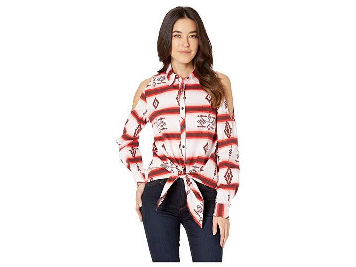 Rock and Roll Cowgirl Long Sleeve Striped Button Down B4B9123