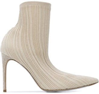 Rene Caovilla Pointed Ankle Boots