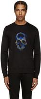 Markus Lupfer Black Sequin Skull Sweatshirt