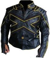 Classyak Men's Xmen Motorcycle Leather Jacket Medium
