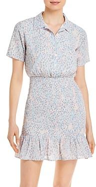 Aqua Printed Smocked Mini Dress - 100% Exclusive