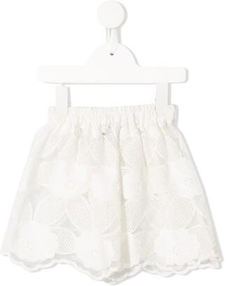 Little Bambah Mista floral embroidered skirt