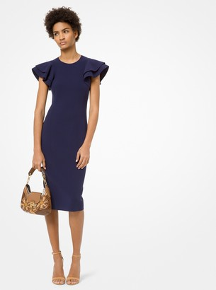 Michael Kors Double-Face Stretch Wool-Crepe Sheath Dress
