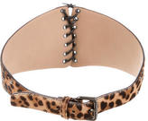 Alaia Animal Print Ponyhair Waist Belt