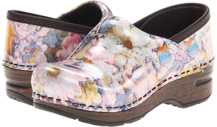 Dansko Gitte (Toddler/Little Kid) (Pastel Bouquet Patent) - Footwear