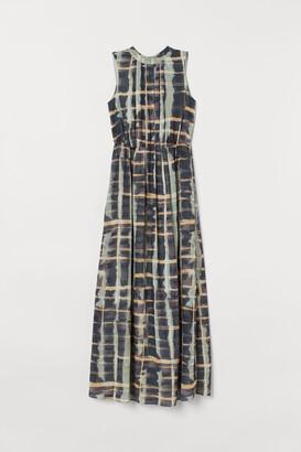 H&M Long Chiffon Dress - Turquoise