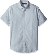 Nautica Men's Slim Fit Short Sleeve Cotton Twill Shirt