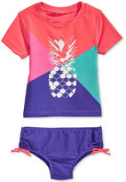 Osh Kosh 2-Pc. Pineapple Colorblocked Rashguard Swim Set, Toddler & Little Girls (2T-6X)