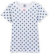 Petit Bateau Girls polka dot t-shirt