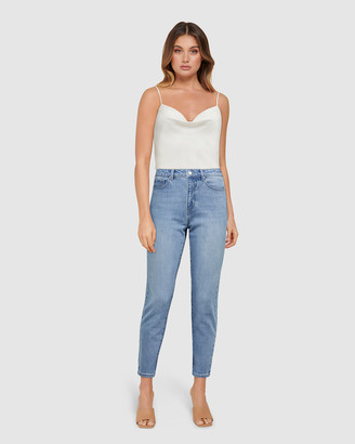 Forever New Isabel Mid Rise Straight Crop Jeans