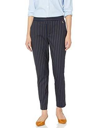 Tommy Hilfiger Women's Stripe Slim Leg Elastic Pant