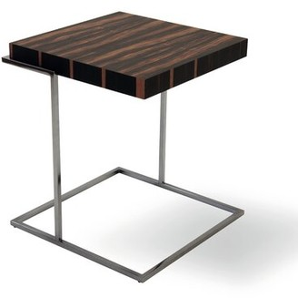 Pianca USA Servoquadro End Table Pianca USA Table Top Color: Burnt Oak, Table Base Color: Black Titanium