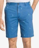 Izod Men's Cotton Flamingo-Print Shorts